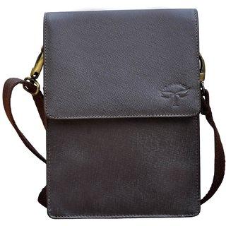 Buy Tamanna Men Women Brown Genuine Leather Sling Bag Online - Get ... d8fc74afe163d