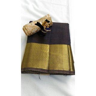 Tussar silk sarees with combo