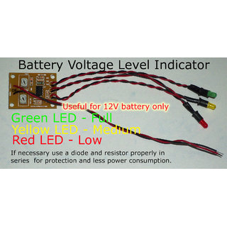 battery low medium high voltage level indicator for diy kits