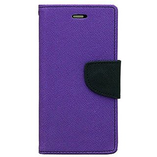 CHL Imported Mercury Fancy Wallet Dairy Flip Case Cover for Lenovo A6600 - Purple