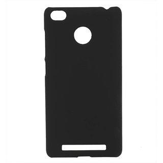 Pudini Back Cover For Redmi 3S Prime-Black