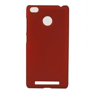Pudini Back Cover For Redmi 3S Prime-Red