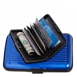 e4e2362a0fb0 VL Kart Aluminium Security Credit Card , ATM Card, Business Visiting Card  Wallet Holder - Golden