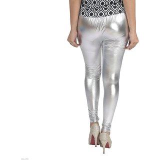 2f3f61c24a women leggings/ shimmer leggings/Silver leggings/FREE SIZE/ PLUS SIZE  ladies shimmer legging/leggings