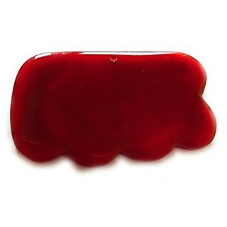 Acupress Premium Agate Guasha Carnelian Gua Sha Board Scraping Massage Tools for Graston SPA Acupuncture Therapy Trigger Point Treatment (Wave)