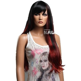 Charming Long Straight Brown Party Wigs For Women Lacefront Wig Front Lace Wigs