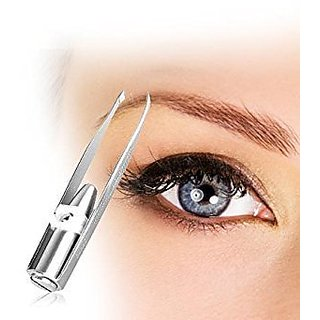 TWEEZE 2 GO LED Tweezers Facial Hair Removal Eyebrows Nose Ear Ingrown Hair Removal Trimmer for Women, Men, First Aid, Teens & Splinter Removal