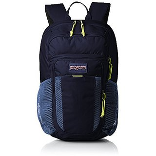 JanSport Mens Digital Carry Mainstream Node Backpack - Navy Moonshine/Lime Punch / 18H X 10.4W X 7D