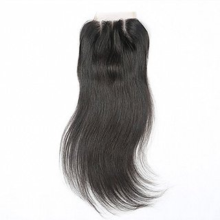 Beata Hair 3 Way Part Brazilian Lace Closure Straight Bleached Knots with Baby Hair 10inch
