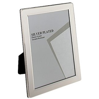 Viceni Plated Flat Edge Photo Frame, 3.5 by 5-Inch, Silver Plated
