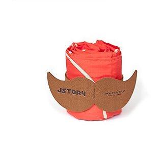 Jstory Mr. Babba Mustache Folding Market Bag One Size Orange