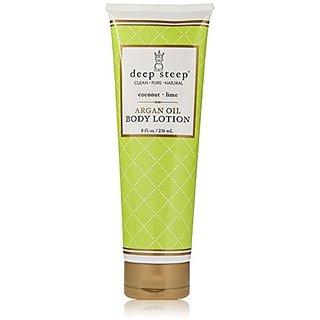 Deep Steep Argan Oil Body Lotion, Coconut Lime, 8 Fluid Ounce (Pack of 6)