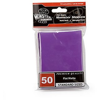 Sleeves - Monster Protector Sleeves - Standard MTG Size Flat Matte - PURPLE (Fits Magic and Standard Sized Gaming Cards)