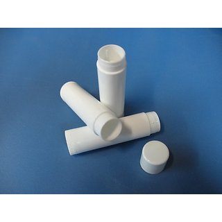 100 WHITE Lip Balm Tubes with Caps (NEW)