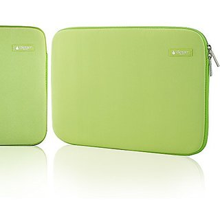 iBenzer - Deluxe Laptop Sleeve Bag Cover Case For all 15-inch laptop computers - Macbook Pro 15'' / Macbook Pro Retina Display 15'' (Green BH-MP15GN)
