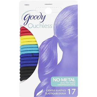 Goody Ouchless Hair Elastics, Rio Elastic, 17 Count (Pack of 3)