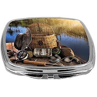 Rikki Knight Compact Mirror, Traditional Fly Fishing