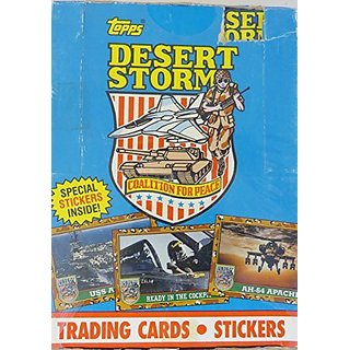 Desert Storm Coalition for Peace Trading Cards Box -36 Count