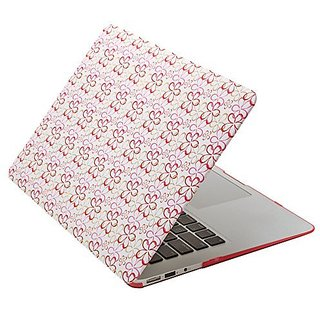 Aduro Macbook SoftTouch Cover with Matching Silicone Keyboard Cover (Retail Packaging) (MacBook Air 13, Flower)
