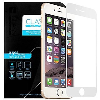iPhone 6 Screen Protector, Pretid Full Screen Premium Tempered Glass Screen Protector for iPhone 6 / 6S 4.7 Inch with 9H Hardness (iPhone 6 Full Screen, White)
