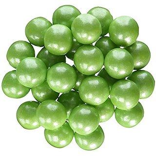 Sweetworks Celebration Candy Gumballs Bag, 8 oz, Shimmer Lime Green