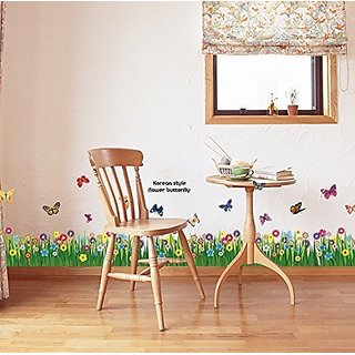 Careshine Grass Floral Ladybug Vinyl Removable DIY Kid Room Decor Wall Sticker Decal Mural