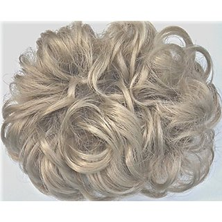 977 Diamond 3-inch Pony Fastener Hair Scrunchie - 101 Platinum Gray