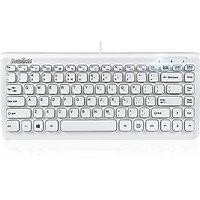 Perixx PERIBOARD-407W Mini Keyboard, USB, White