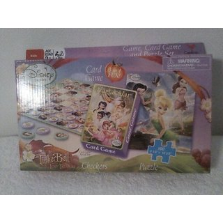 Disney Tinkerbell Card Game, Checkers, Puzzle Set