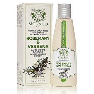 SKIN & CO Women's Organic Rosemary & Verbena Body Milk, 7.7 fl. oz.