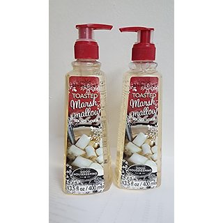 2 PK OF SIMPLE PLEASURES TOASTED MARSHMALLOW HAND SOAP 13.5 OZ PUMP TOP BOTTLE 27 OZ. TOTAL