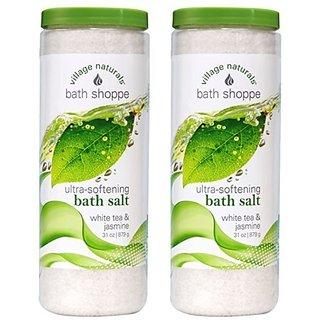Village Naturals Bath Shoppe White Tea Body Soak 31 oz (2)
