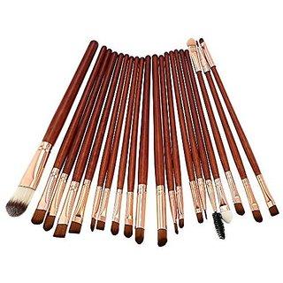 KOLIGHT 20 Pcs Pro Makeup Set Powder Foundation Eyeshadow Eyeliner Lip Cosmetic Brushes