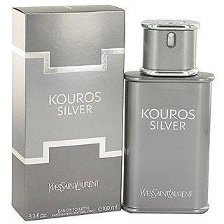 Yves Saint Laurent Kouros Silver Men's Eau de Toilette Spray, 3.4 Ounce