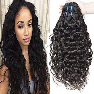 Vipbeauty 3 Bundles Of Brazilian Hair 6A Grade 100% Unprocessed Virgin Water Wave Wair Natural Black 95-105g/pc(8 8 8 )
