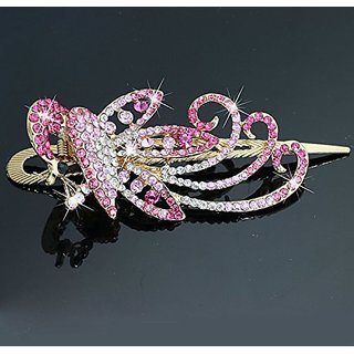 A&C Vintage Princess Hair Combs, Fashion Phoenix Hair Clips & Headwear for Women. (Pink)
