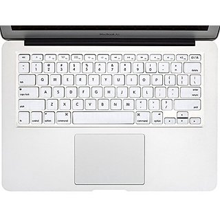 Allytech - WHITE Keyboard Cover Silicone Skin for MacBook Air 13