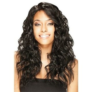 MOCHA (#1B Off Black) - Model Model Deep Invisible Part Synthetic Hair Wig