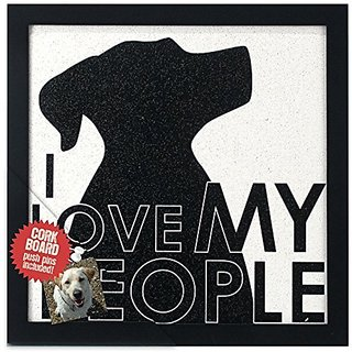 Malden Modern Graphics Corkboard Wood Picture Frame, I Love My People, Black/White