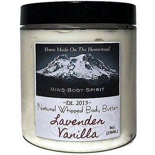 Home Made On The Homestead Lavender Vanilla All Natural Whipped Body Butter