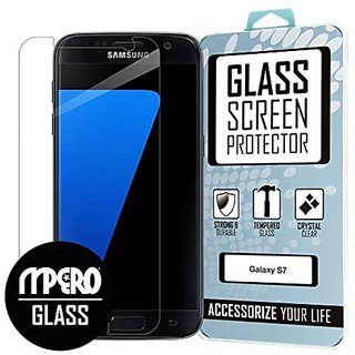 MPERO Samsung Galaxy S7 Tempered Glass Screen Protector Cover, Clear