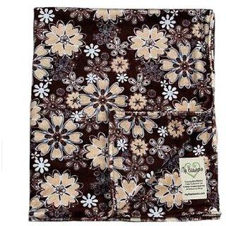 My Blankee Brown/Blue Daisy Velour Baby Blanket