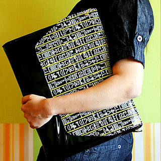 Black Egyptian Hieroglyphs Sling Bag