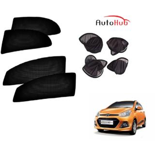 Auto Hub Premium Folding Magnetic Sun Shade For Hyundai Grand i10 - Pack of  4 Pcs c68a548a494