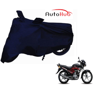 Auto Hub 100 Water Resistant Navy Blue Two Wheeler Body Cover For Yamaha YBR 125 - By AS Traders