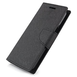 FANCY WALLET DIARY WITH STAND VIEW FLIP COVER For   Micromax A102 Canvas Doodle 3 (BLACK)