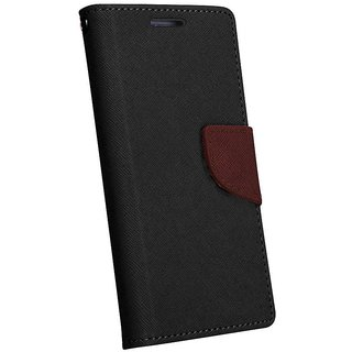 FANCY WALLET DIARY WITH STAND VIEW FLIP COVER For   Micromax Bolt Q324 (BROWN)