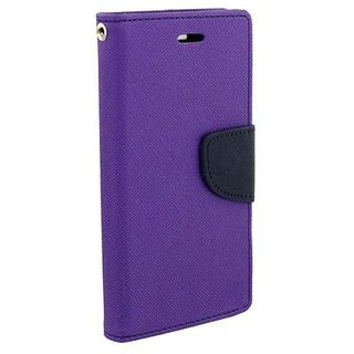 FANCY WALLET DIARY WITH STAND VIEW FLIP COVER For  Motorola Moto G2 (PURPLE)
