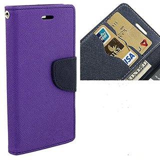 Fancy Artificial Leather Flip Cover For Microsoft Lumia 535   (Purple)
