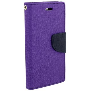 FANCY WALLET DIARY WITH STAND VIEW FLIP COVER For  LETV 2S (PURPLE)